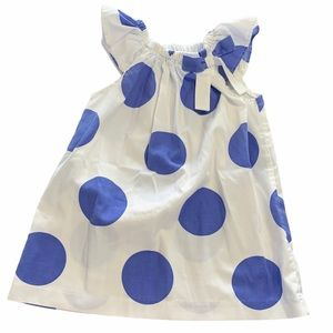 KELLY'S KIDS Blue polka dot dress with bow
